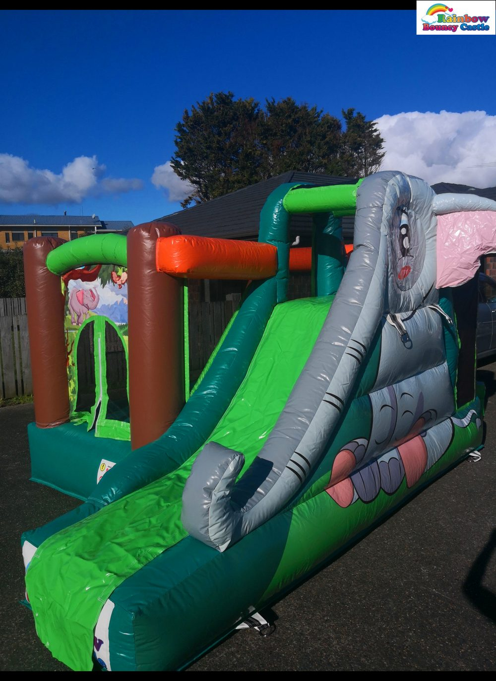 elephant jungle bouncy castle