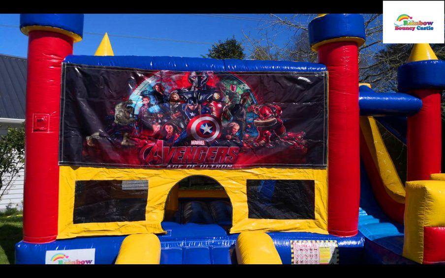 The avengers bouncy castle for hire in auckland
