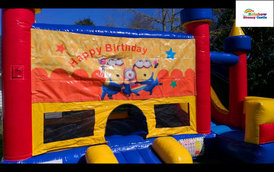 minnions bouncy castle for hire-happy birthday bouncy castle