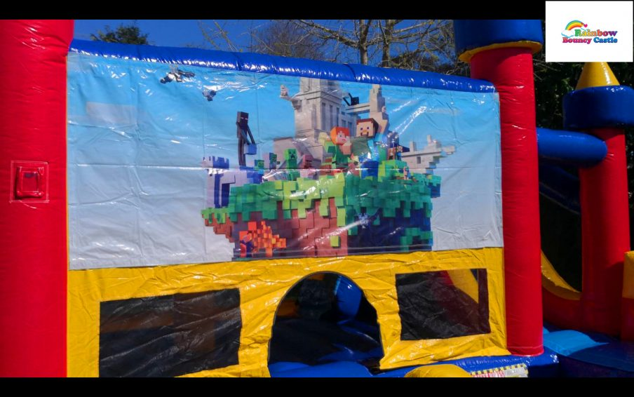 minecraft bouncy castle for hire in auckland